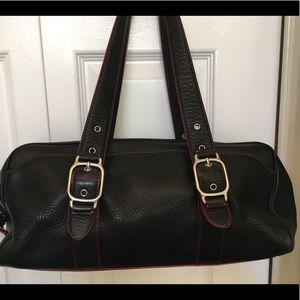 Black leather Cole Haan purse